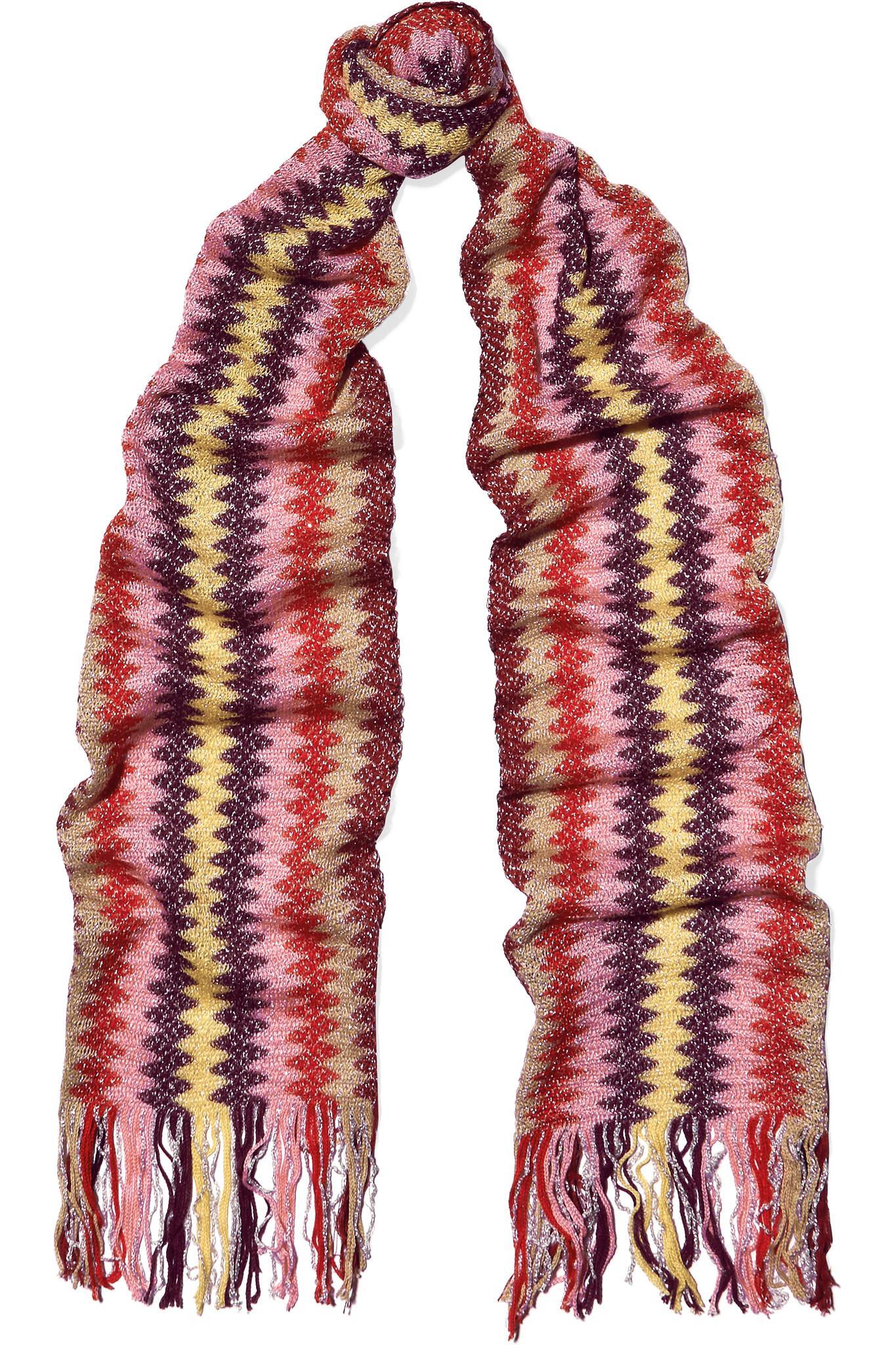 Sequined Striped Crochet-knit Scarf - Green Missoni PvmAeAx59L