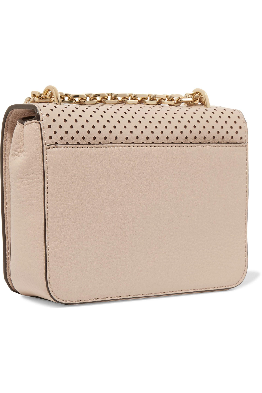 2d5476f5e88e Tory Burch Zoey Laser-cut Leather Shoulder Bag in Natural - Lyst