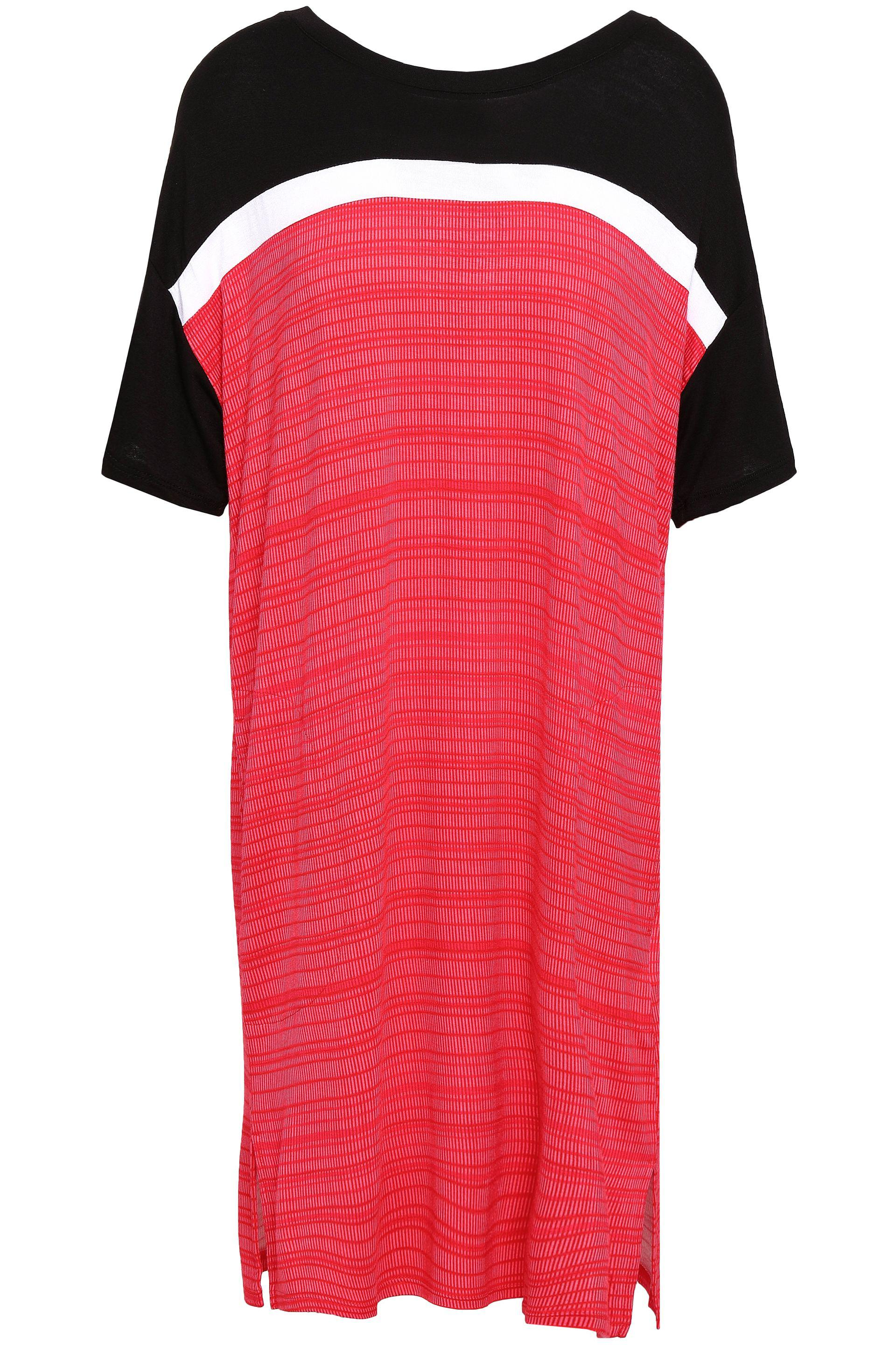 c24194cff6 Dkny Printed Jersey Nightshirt in Red - Lyst
