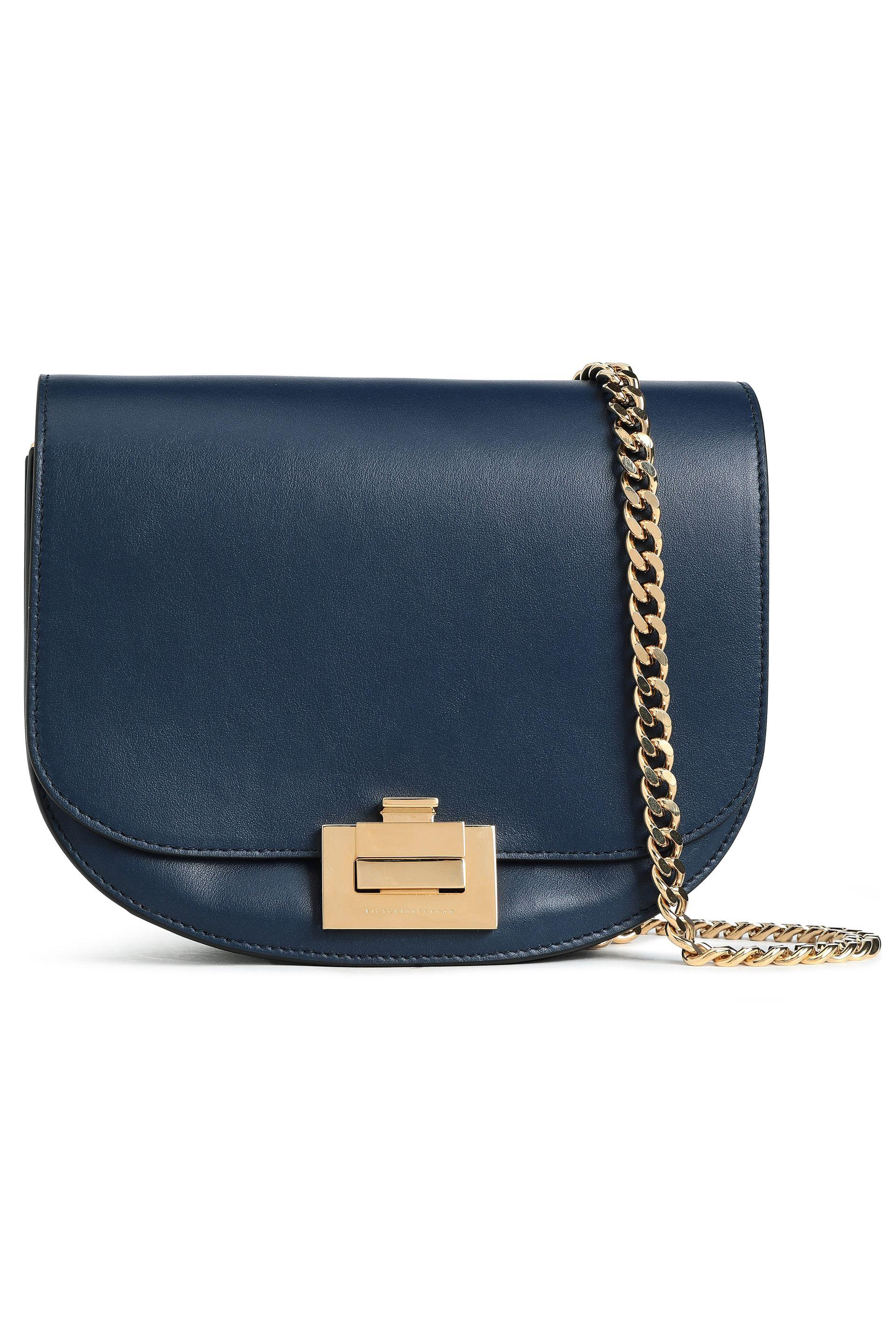 Victoria Beckham Woman Leather Shoulder Bag Navy in Blue - Lyst b8be4db1aa