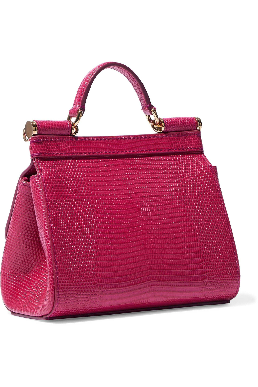 0628bfbb Dolce & Gabbana - Multicolor Woman Sicily Lizard-effect Leather Shoulder Bag  Magenta - Lyst. View fullscreen