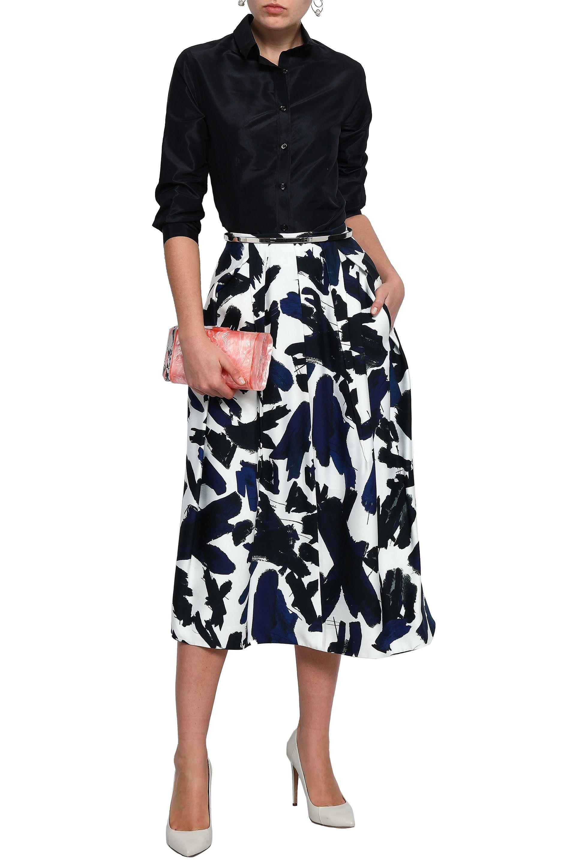 bdd1ef648eb8b Carolina Herrera - Woman Silk-taffeta Shirt Black - Lyst. View fullscreen