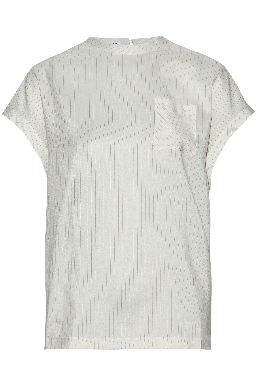 Brunello Cucinelli Woman Embellished Open-knit Linen And Silk-blend Top Ecru Size M Brunello Cucinelli Cheap Cheap Online 6r4FdlN8