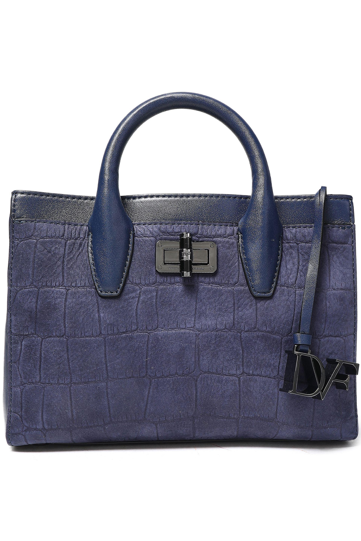 e186bbc9a3 ... Woman Viviana Croc-effect Leather Shoulder Bag Indigo - Lyst. View  fullscreen