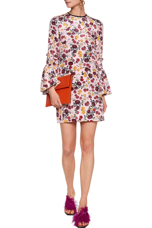 Mother Of Pearl | Dixie Printed Silk Mini Dress Pastel Pink | Lyst. View  Fullscreen