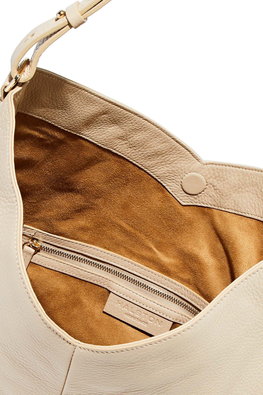 6c084f5df9 Halston Heritage - Natural Pebbled-leather Shoulder Bag - Lyst. View  fullscreen