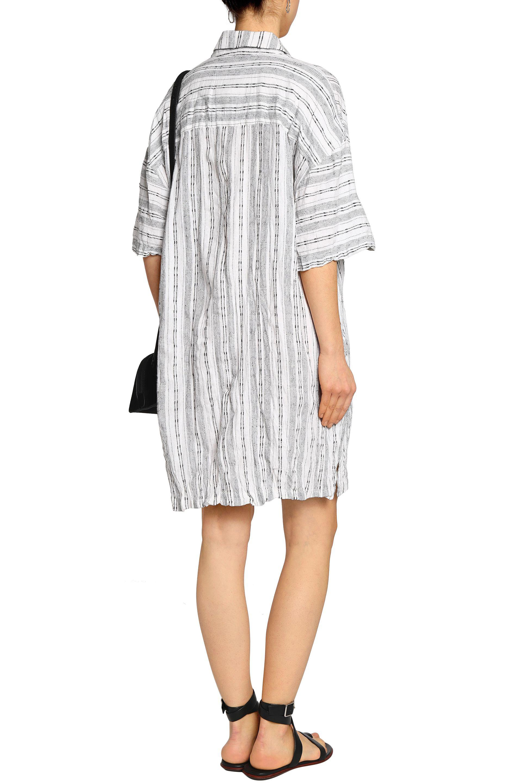 10 Lam Femme Derek Linge Crosby Rayé Et Coton Mélangé Mini Robe Chemise Blanc Taille Xl Lam Derek a5ueZpHzX