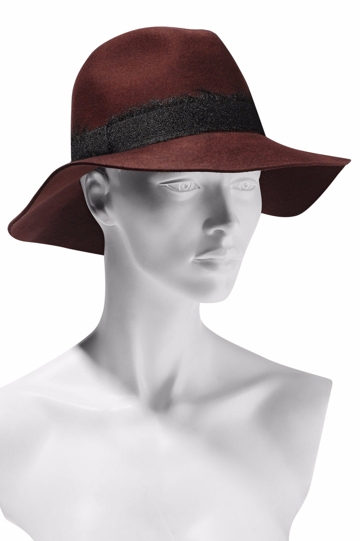 ed6865bbc060c Eugenia Kim Woman Georgina Brushed Woven-trimmed Wool-felt Fedora ...