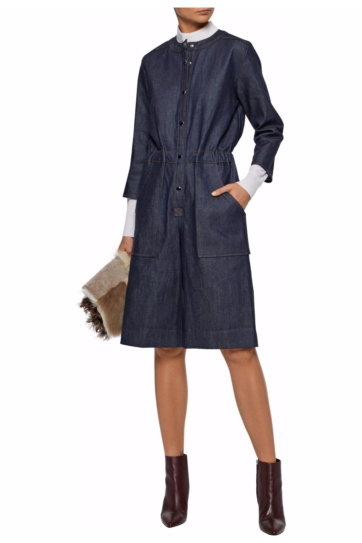 Seward Vanessa Lyst In Denim Blue Gathered Dress 5gRPPXnqW