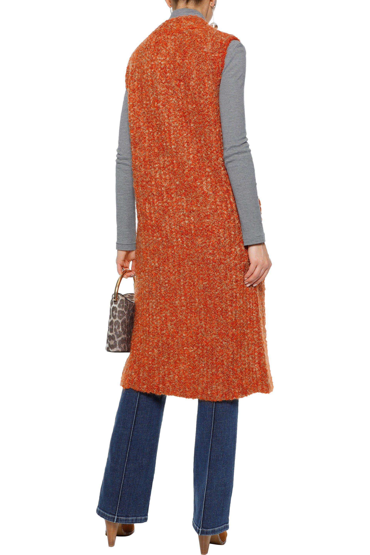 Outlet Store For Sale Free Shipping Exclusive Sonia Rykiel Woman Mélange Mohair-blend Bouclé Vest Orange Size M Sonia Rykiel pnKtn