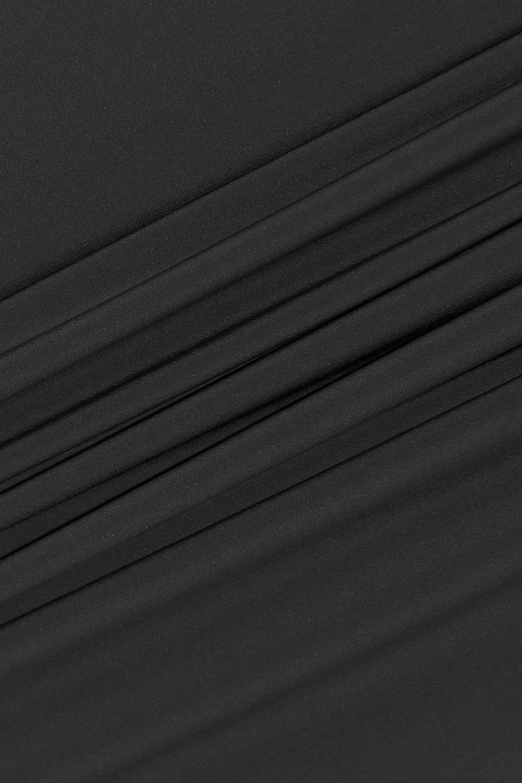 918eff4e7 Rick Owens - Woman Pillar Split-back Stretch-shell Pencil Skirt Dark Gray  -. View fullscreen