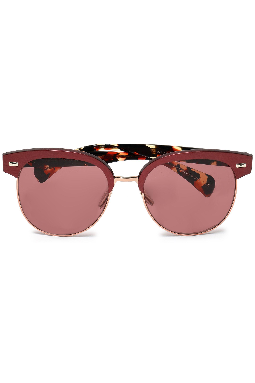 Oliver Peoples Woman Square-frame Gunmetal-tone Sunglasses Silver Size Oliver Peoples FVtIx