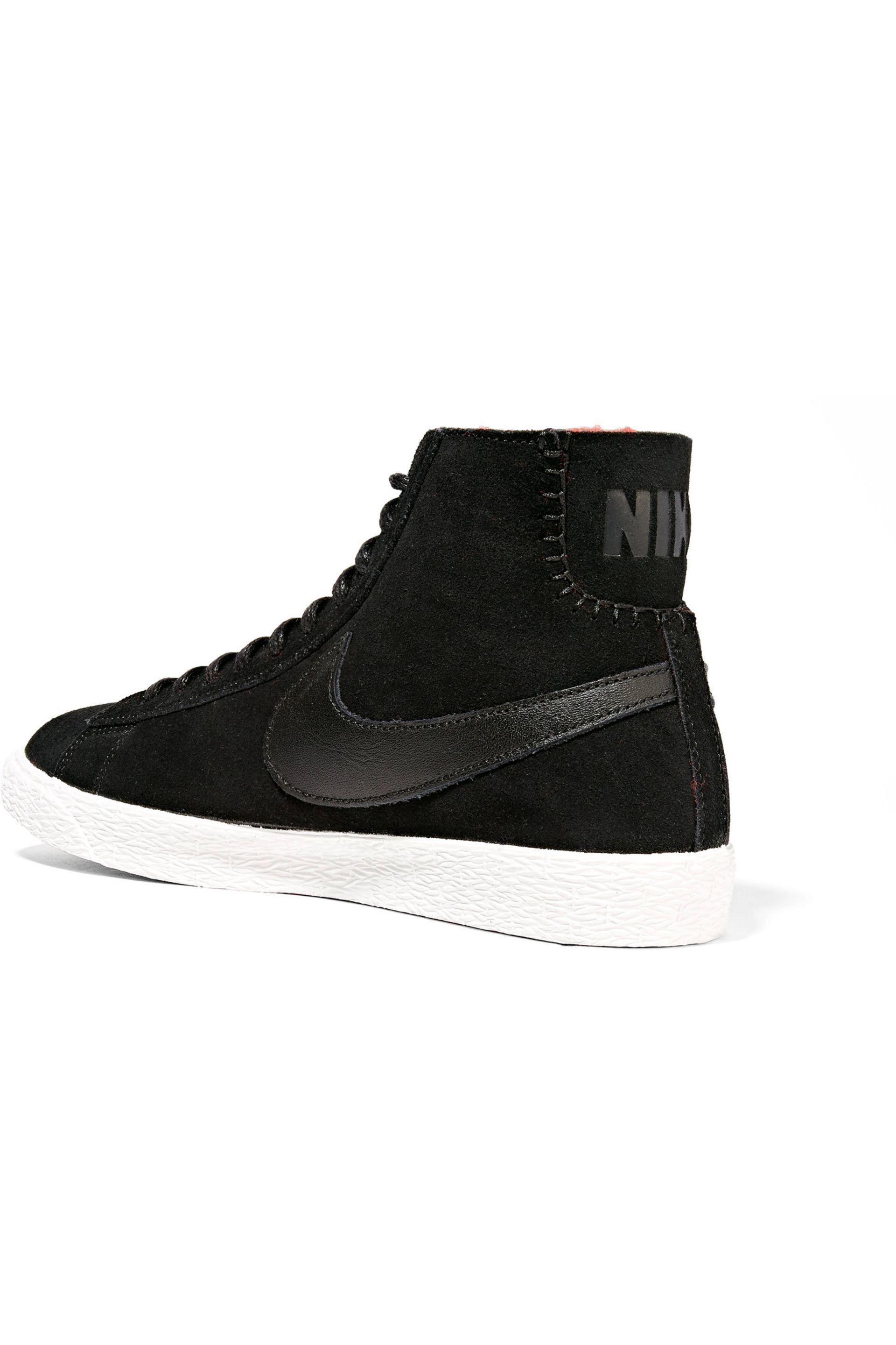 Nike - Black Blazer Mid Suede And Shearling High-top Sneakers - Lyst. View  Fullscreen