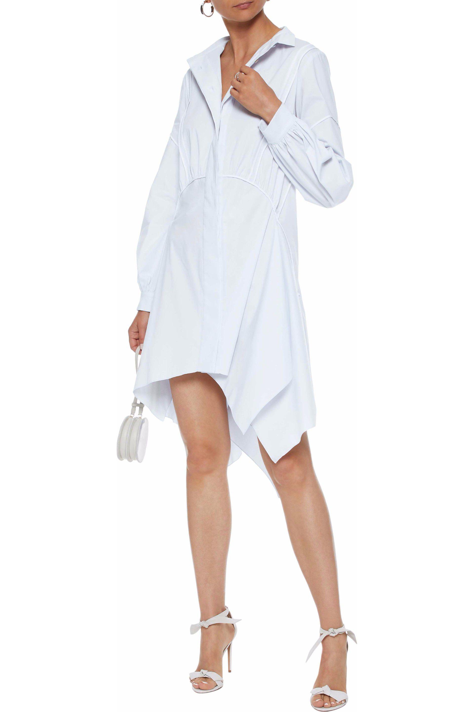 2d641e58a6b ... Satin-trimmed Stretch-cotton Poplin Mini Shirt Dress Sky. View  fullscreen
