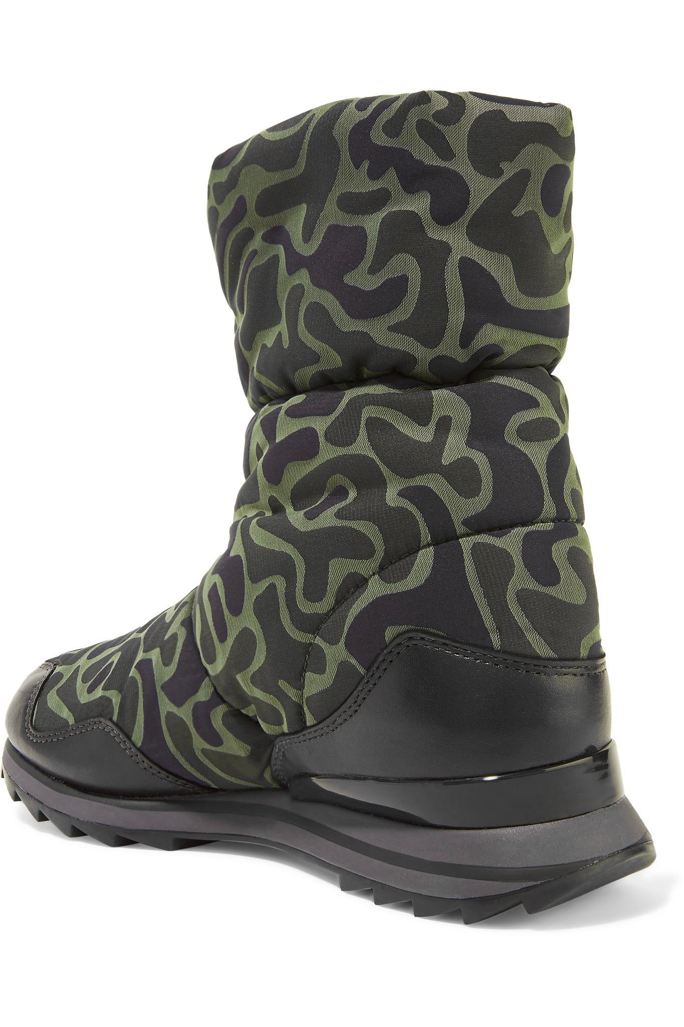 Y-3 + Adidas Originals Rhita Leather-trimmed Printed Quilted Shell ... : adidas quilted boots - Adamdwight.com