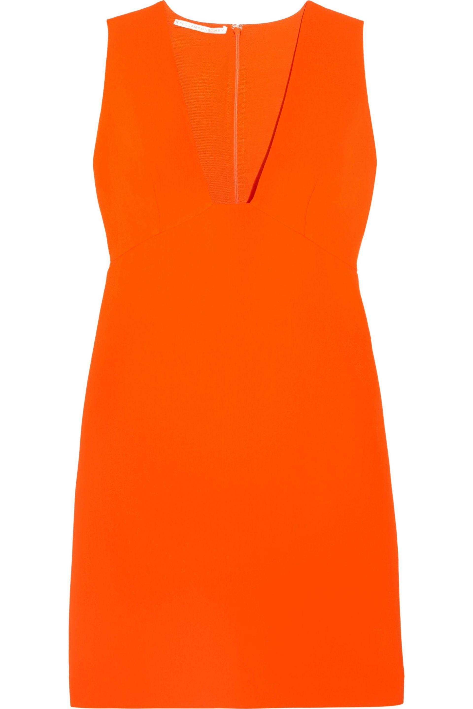 Stella Mccartney Woman Stretch-cady Mini Dress Orange Size 48 Stella McCartney oagaOiNZ
