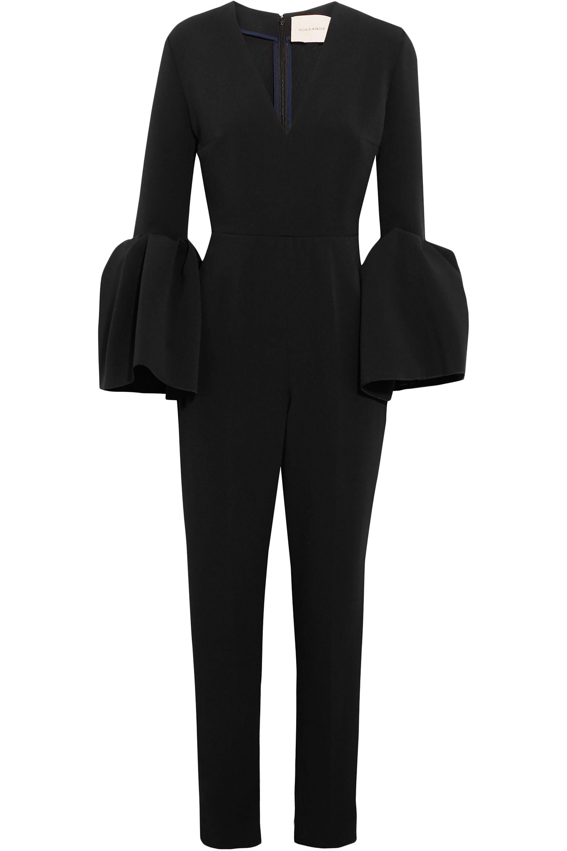 d2285ec44f4 Lyst - ROKSANDA Margot Crepe Jumpsuit in Black