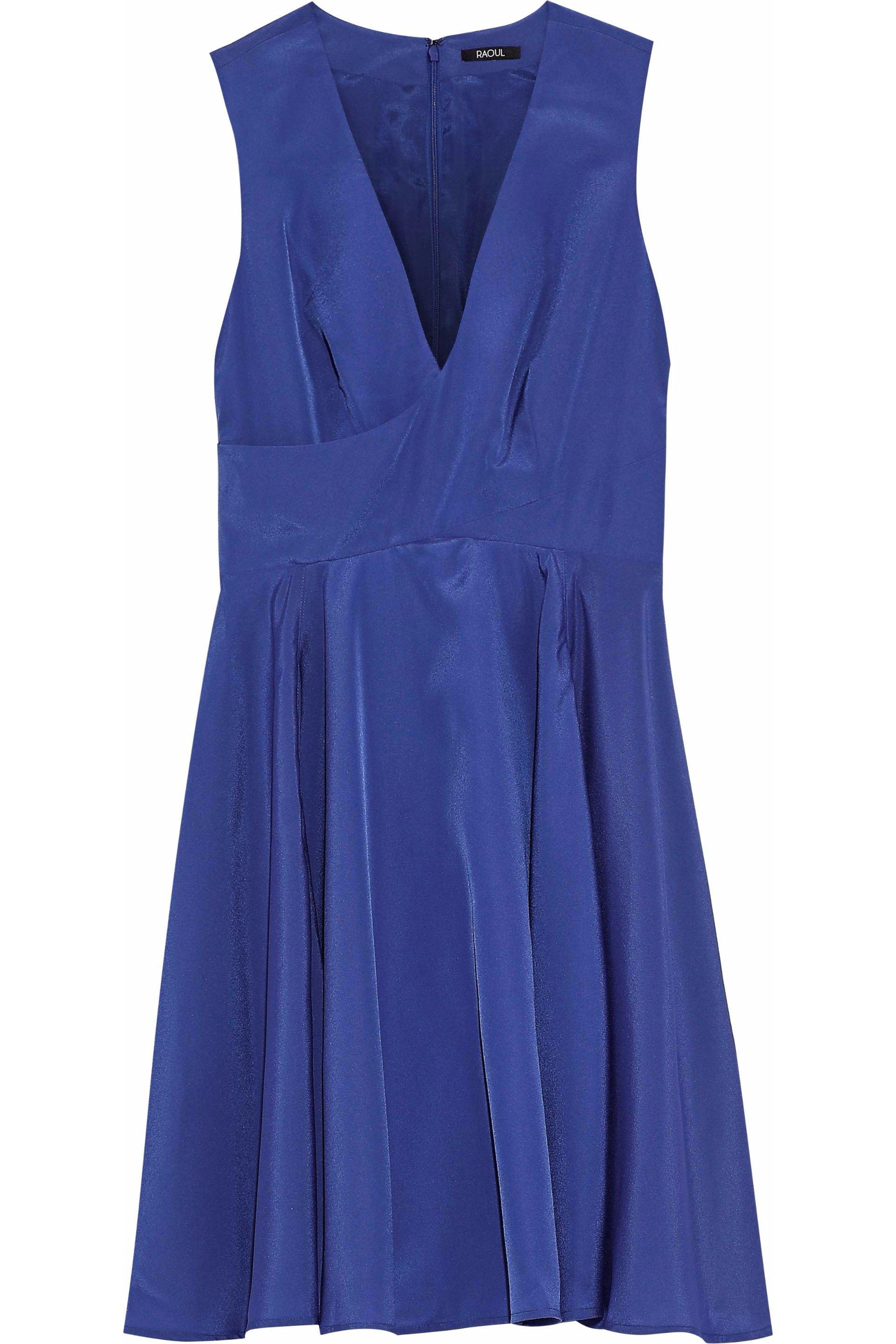Raoul Woman Bow-embellished Pleated Crepe De Chine Peplum Top Royal Blue Size M Raoul For Sale Cheap Online The Best Store To Get RmVnmOA