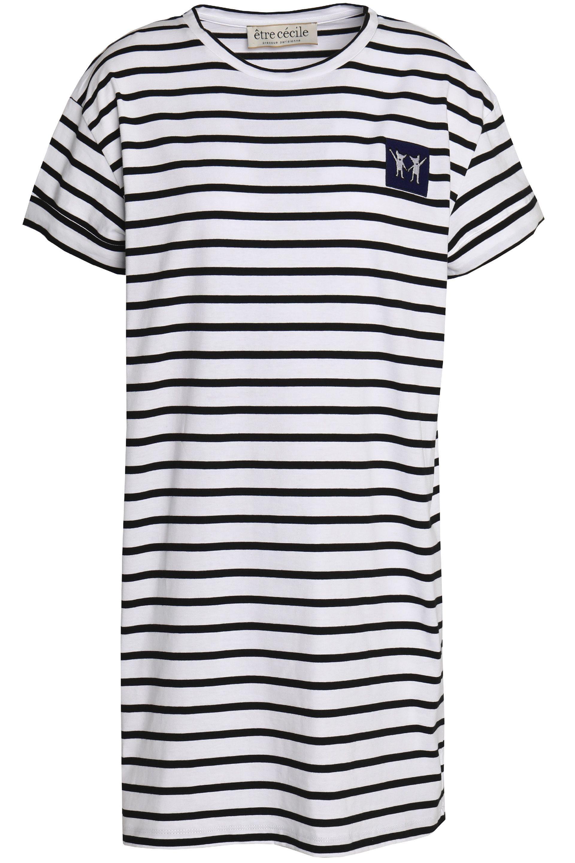 Clearance Hot Sale Many Kinds Of  Être Cécile Woman Appliquéd Striped Cotton-poplin Shirt Light Blue Size XS être cécile Buy Cheap Outlet Locations yJnwLjg5Q