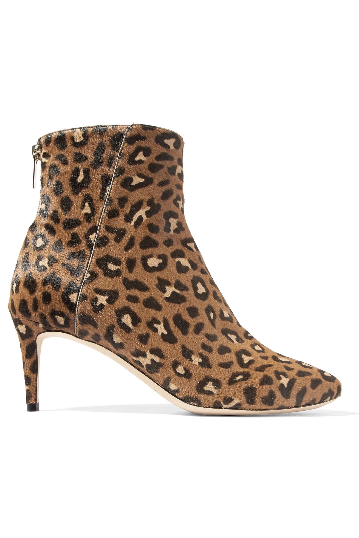 36a9adfc15e8 Jimmy Choo. Women s Brown Woman Duke Leopard-print Calf Hair Ankle Boots ...