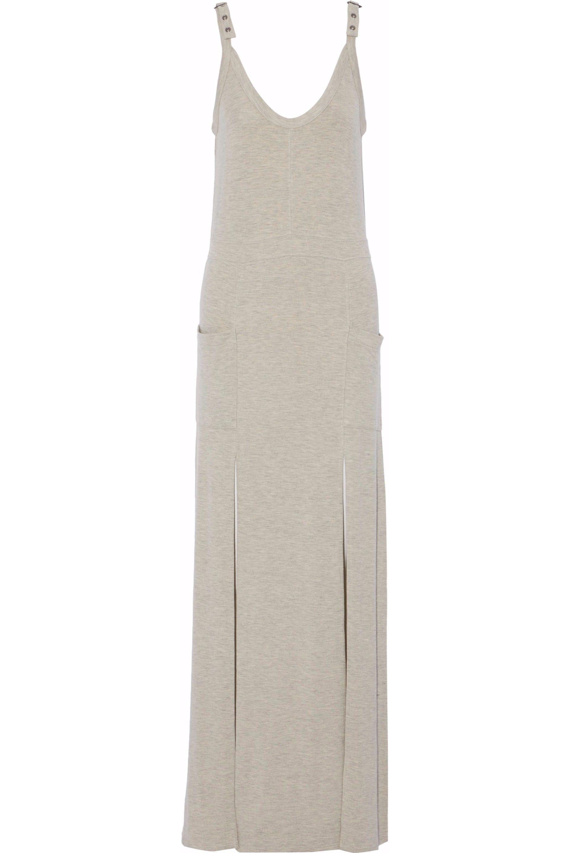 Haute Hippie Woman Buckled Stretch-modal Jersey Maxi Dress Light Gray Size M Haute Hippie sj8Me