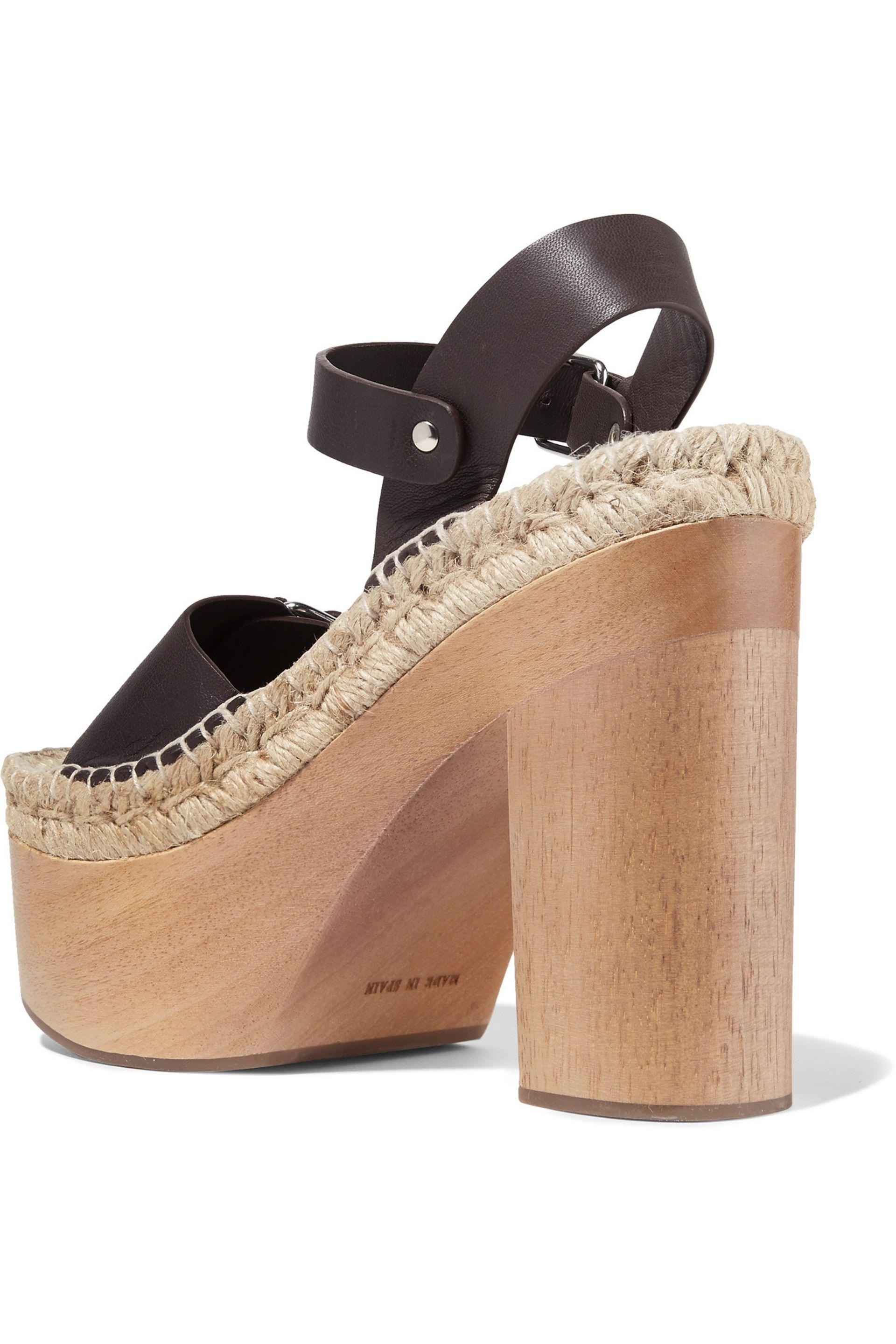 Paloma Barceló | Brown Lucia Leather Platform Espadrille Sandals | Lyst.  View Fullscreen