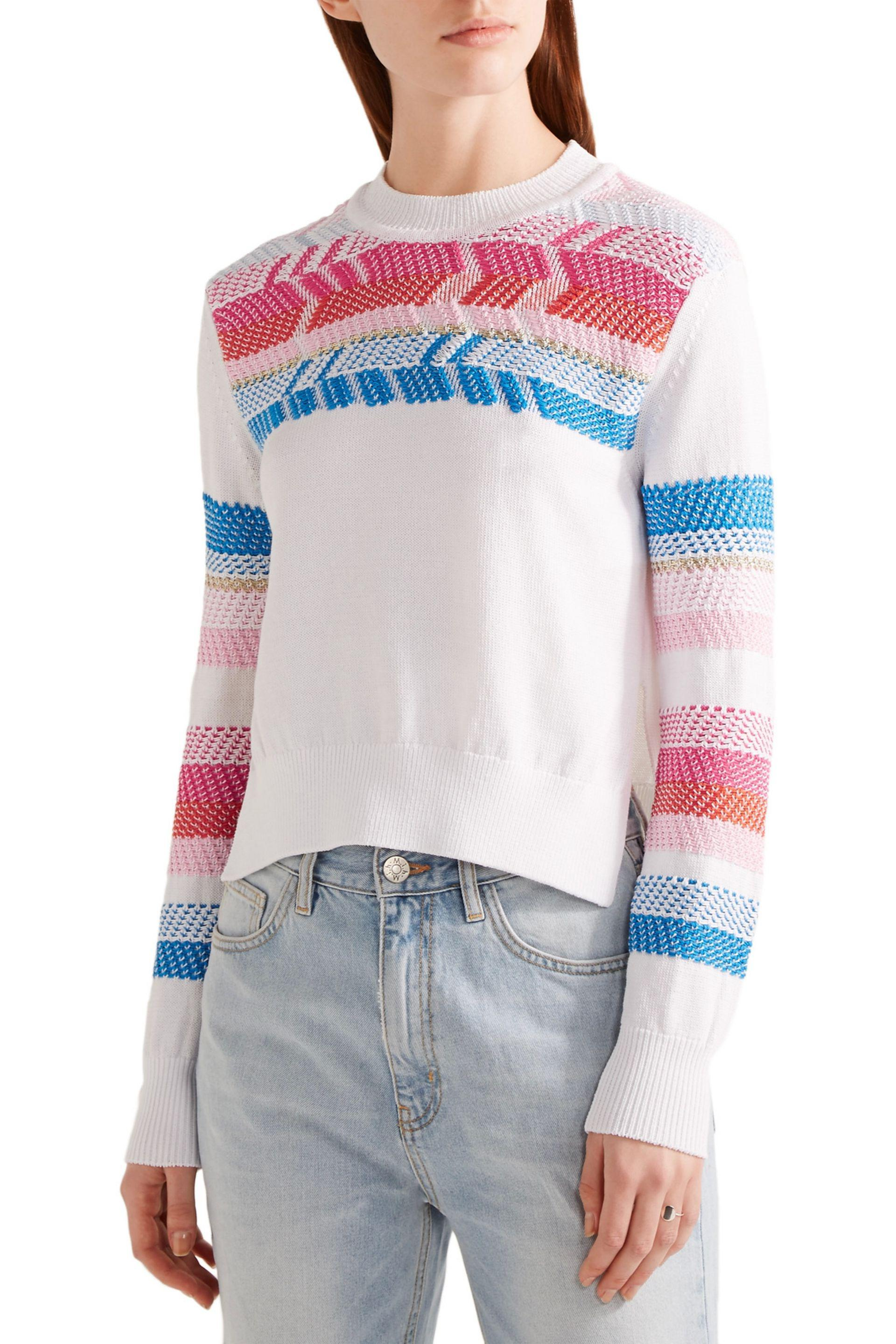 Peter Pilotto Woman Off-the-shoulder Dégradé Open-knit Sweater Pink Size L Peter Pilotto Free Shipping 2018 Clearance With Mastercard From China Free Shipping Low Price Buy Cheap With Mastercard F7SFstig8