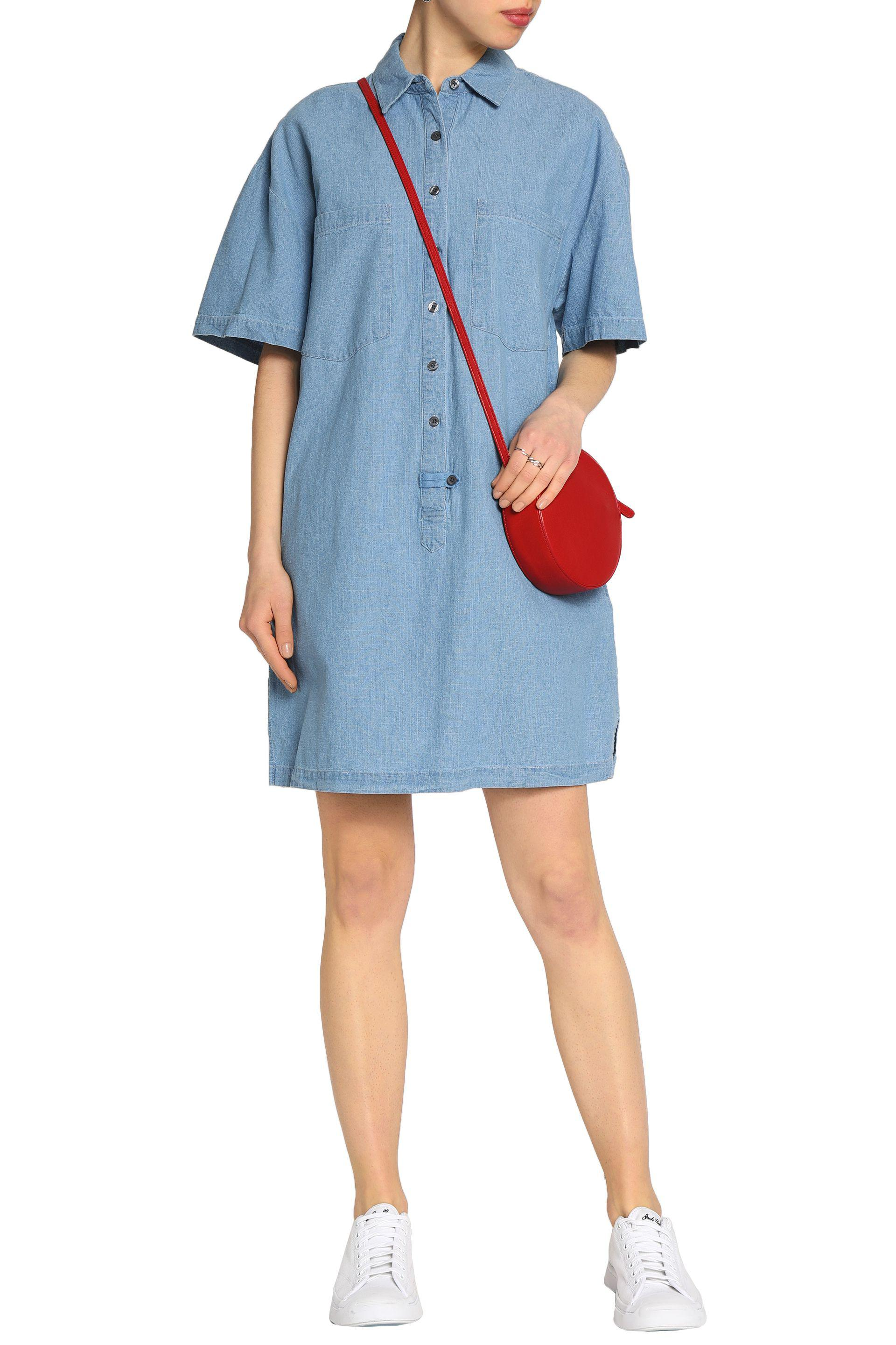 Buy Online With Paypal Derek Lam 10 Crosby Woman Cotton-chambray Shirt Dress Light Blue Size S Derek Lam Buy Cheap Eastbay blMJ101
