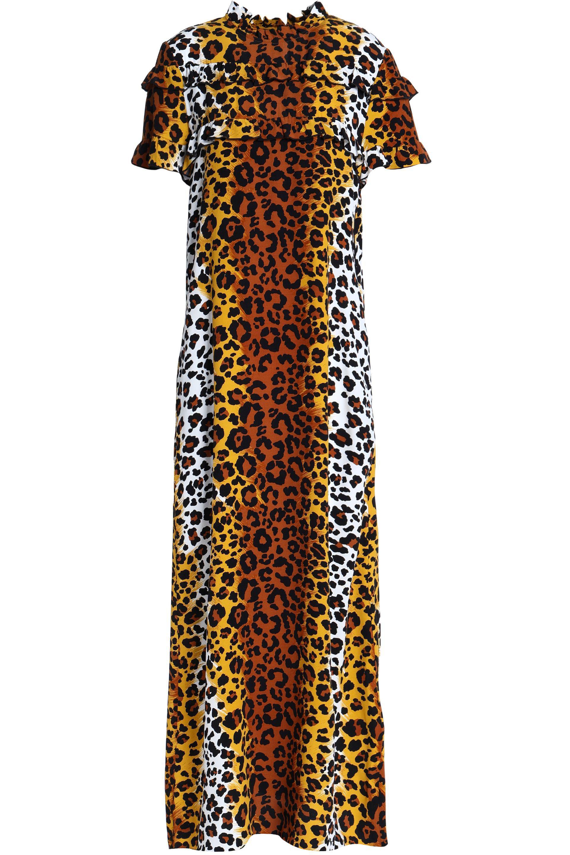 Love Moschino Woman Leopard-print Crepe Mini Dress Animal Print Size 48 Love Moschino B1MLxz