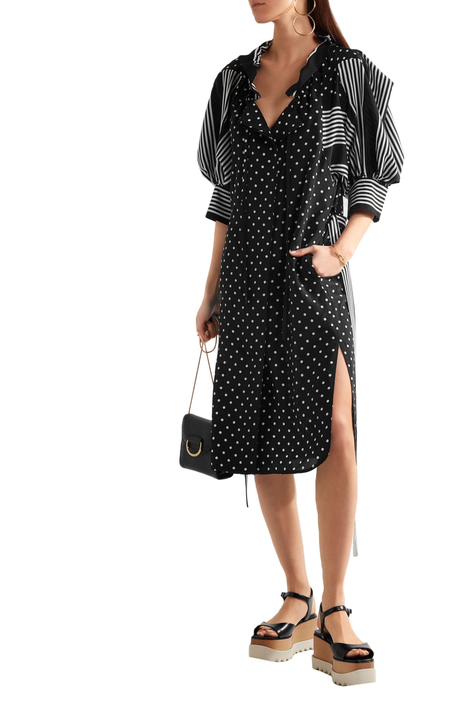 29492f9bbea0 Stella McCartney Valeria Paneled Printed Silk Shirt Dress Black in ...