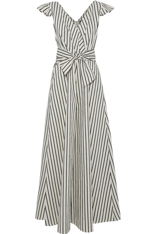 702f3fb46af Paper London. Women s Maya Wrap-effect Striped Twill Jumpsuit