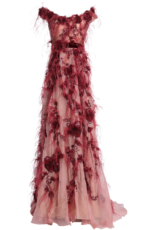 a24f7592 Marchesa Silk Gown in Red - Lyst