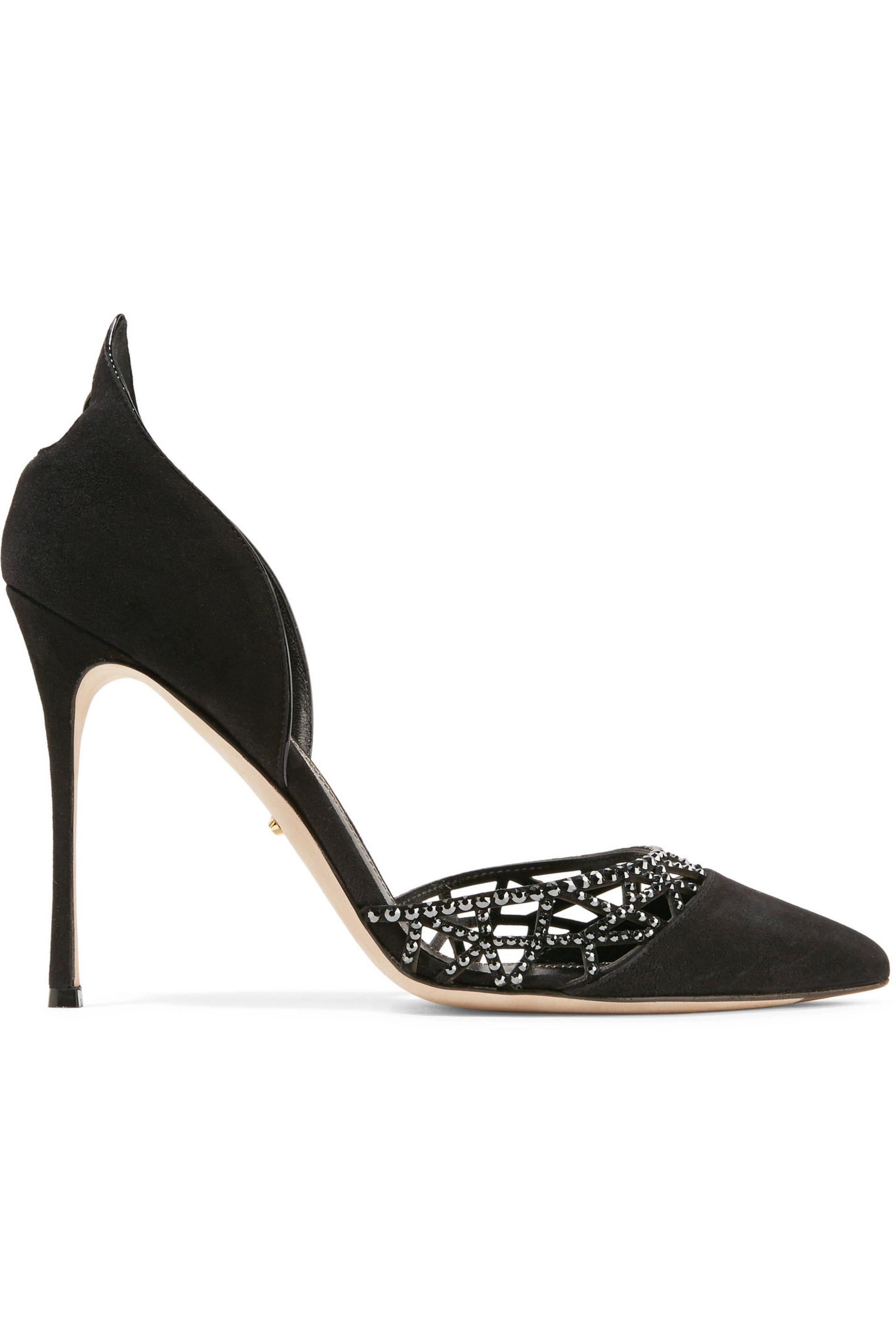 low priced fd959 11e11 sergio-rossi-Black-Crystal-embellished-Laser-cut-Suede-Pumps.jpeg