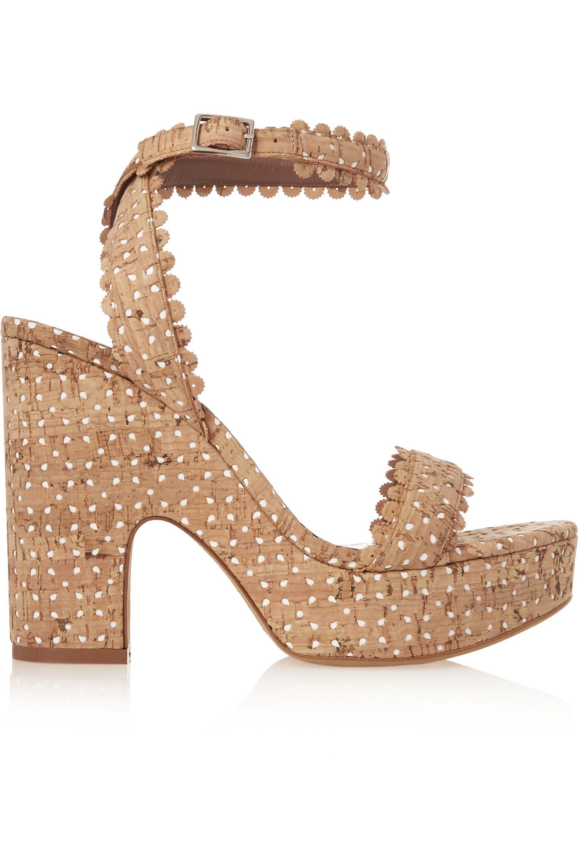 Tabitha Simmons Harlow perforated cork sandals gpIQtKu86