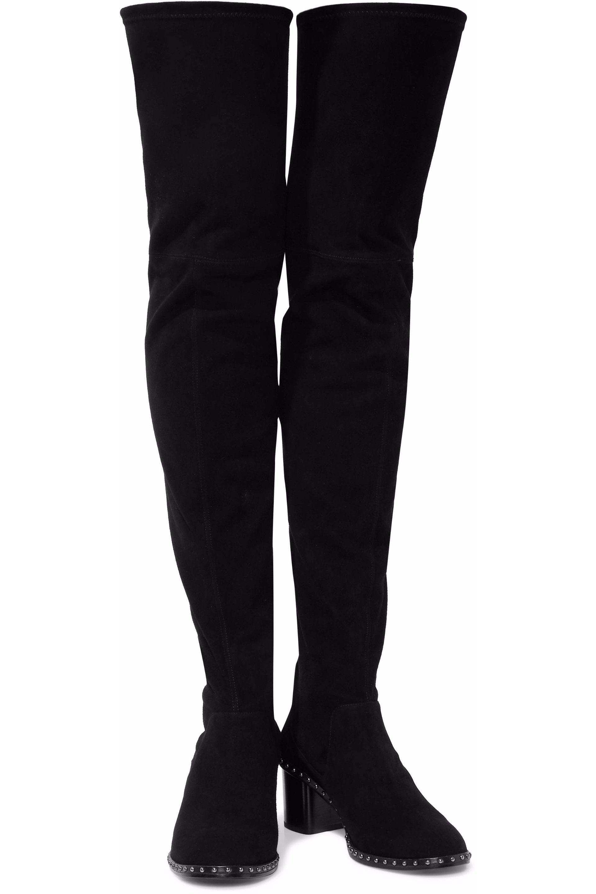 86e0f301018 Rag   Bone - Woman Rina Suede Over-the-knee Boots Black - Lyst. View  fullscreen