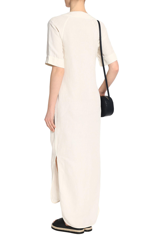 Equipment Woman Silk And Linen-blend Maxi Dress Ecru Size M Equipment Cheap Price Top Quality KS8U0s