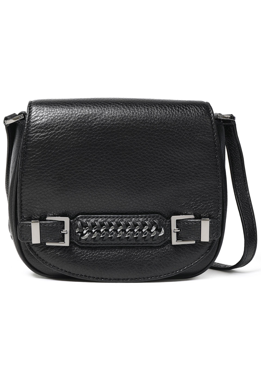 0c897062c5fd7 Diane von Furstenberg. Women s Woman Iggy Chain-embellished  Textured-leather Shoulder Bag Black