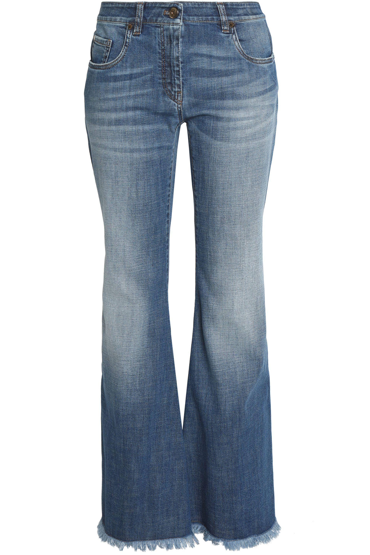 6b0909f05f8 Brunello Cucinelli Faded Flared Jeans Light Denim in Blue - Lyst