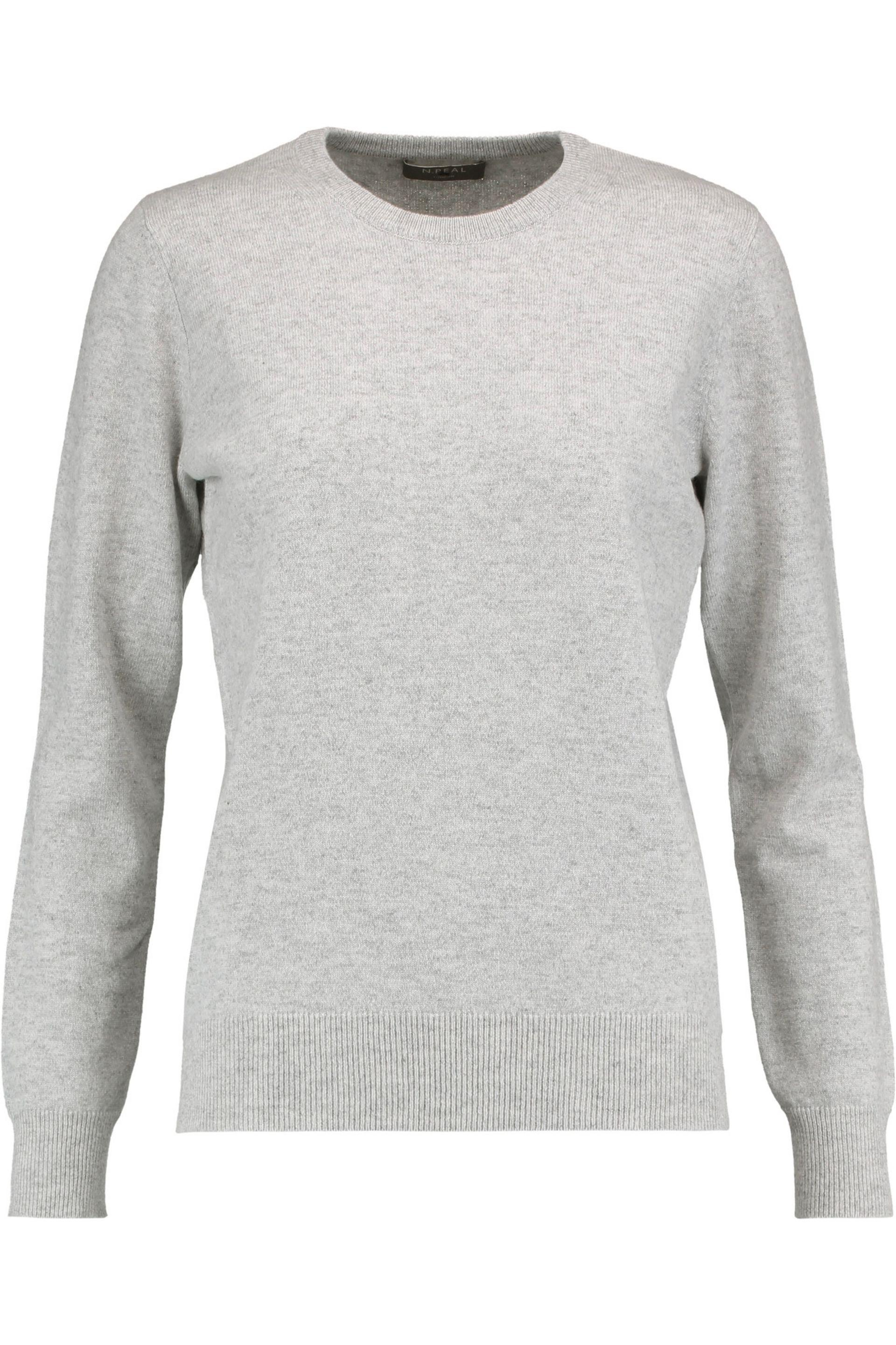 N.peal cashmere Cashmere Sweater in Gray | Lyst