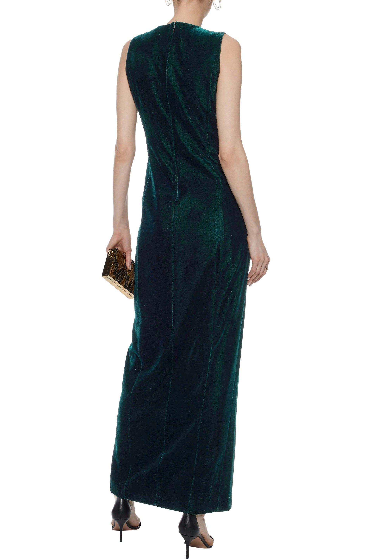 Elie Tahari Woman Jemra Chain-embellished Cutout Velvet Maxi Dress Midnight Blue Size 2 Elie Tahari Sale Outlet Buy Cheap For Cheap Cheap Visit New 2hS1afTJ