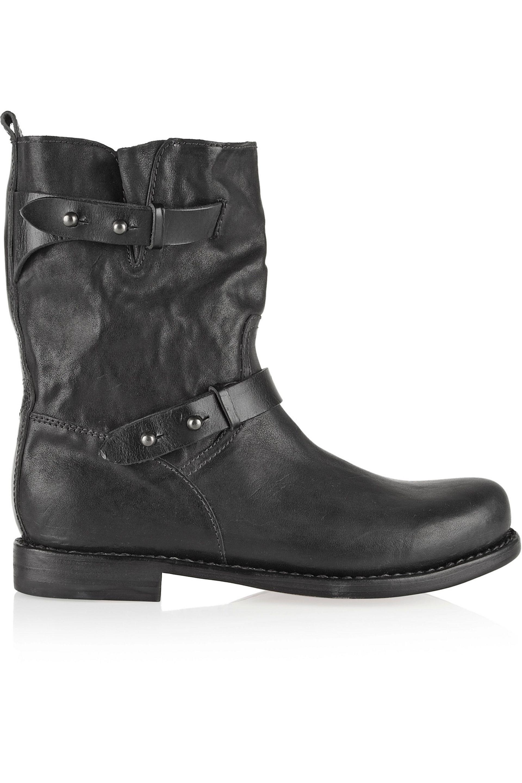 Pre-owned - Leather biker boots Rag & Bone Explore Cheap Price Ofk2o