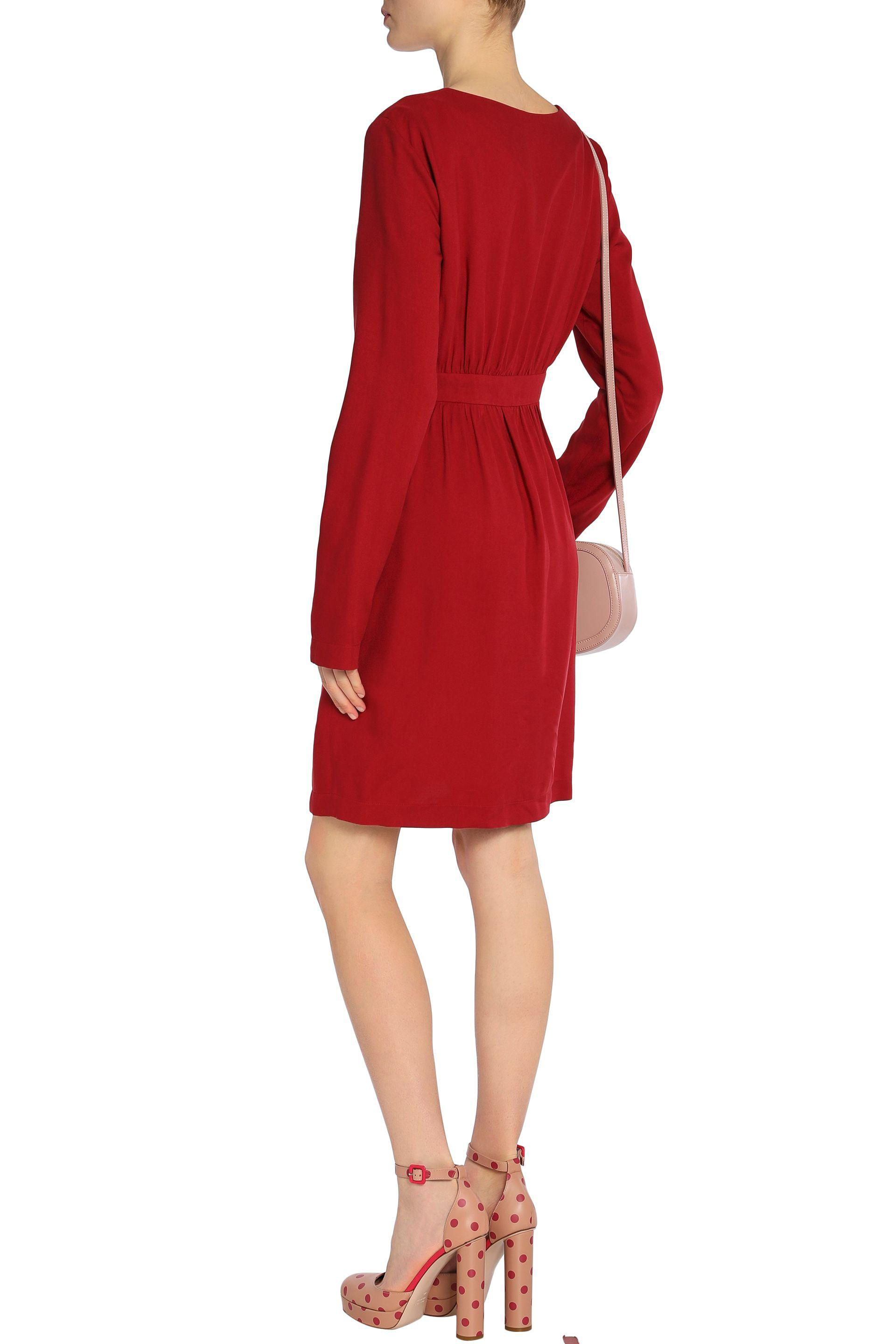 Love Moschino Woman Belted Ponte Mini Dress Red Size 42 Love Moschino otaEAWcMVZ