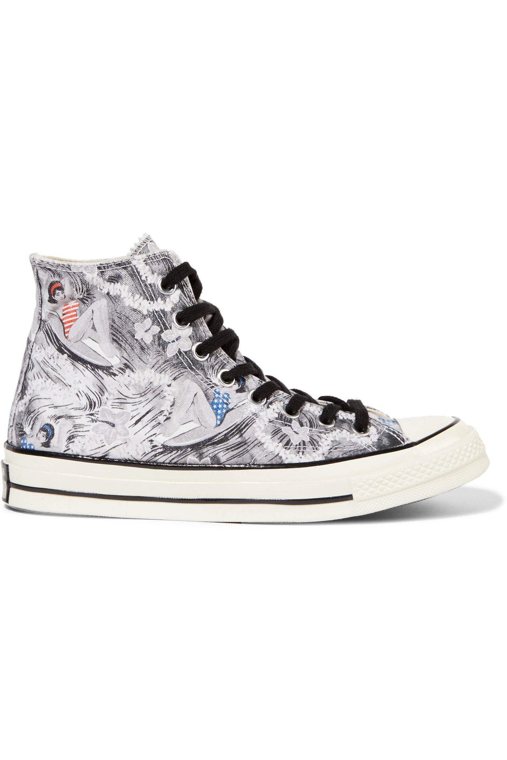 98e05ac0fd2c9e Converse All Star Chuck 70s Hawaiian Print Canvas Sneakers in White ...