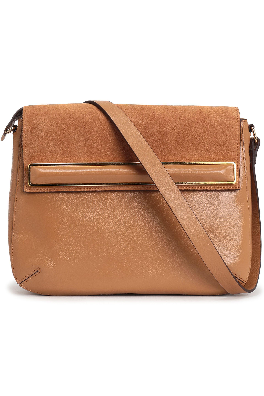 Embellished Tan Calf Leather Messenger Bag hASqf5
