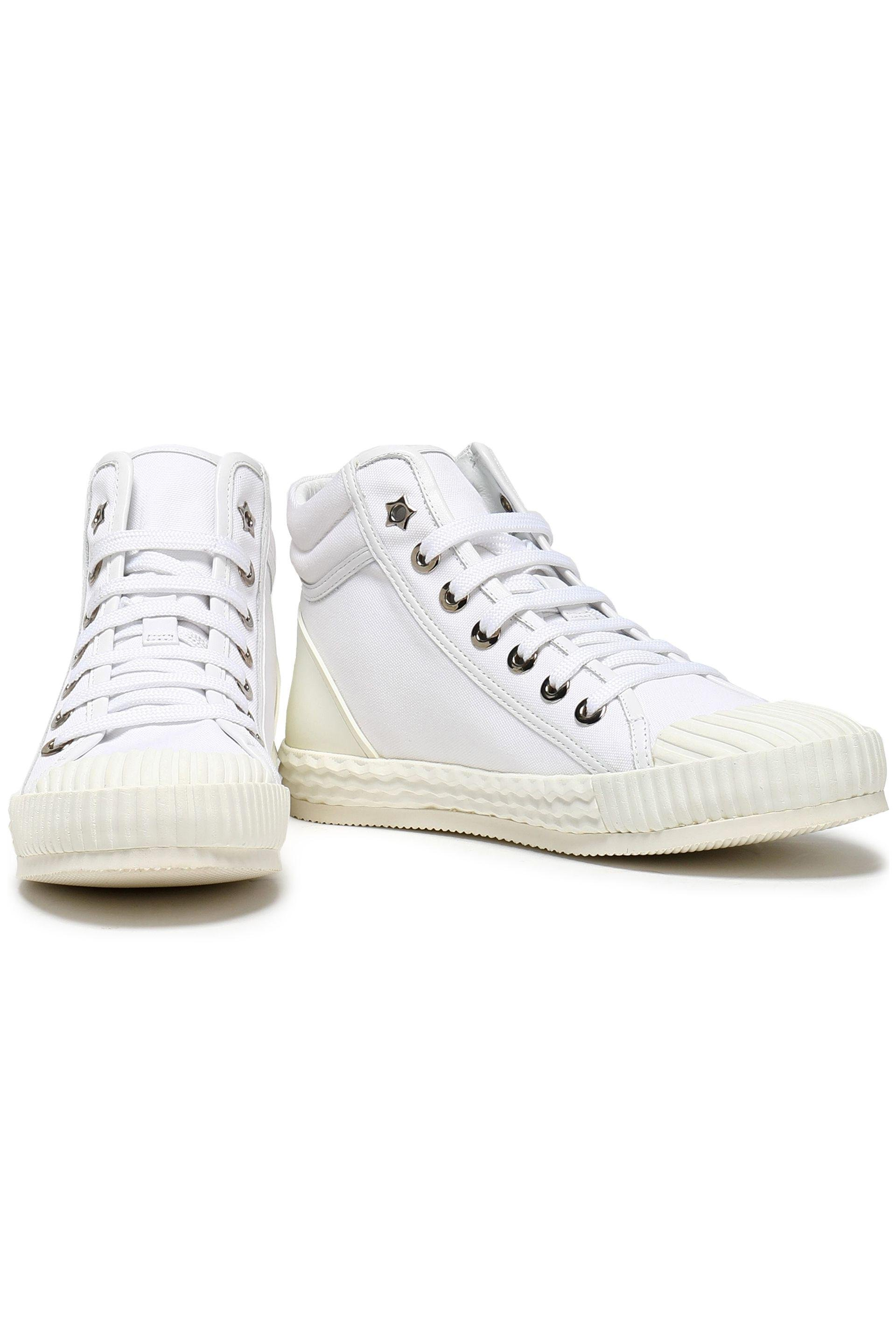Clearance Geniue Stockist Jimmy Choo Woman Berlin Canvas And Embossed Leather High-top Sneakers White Size 41 Jimmy Choo London Free Shipping Order Outlet Excellent Clearance Shop For For Sale Free Shipping S3oRRN6xWT