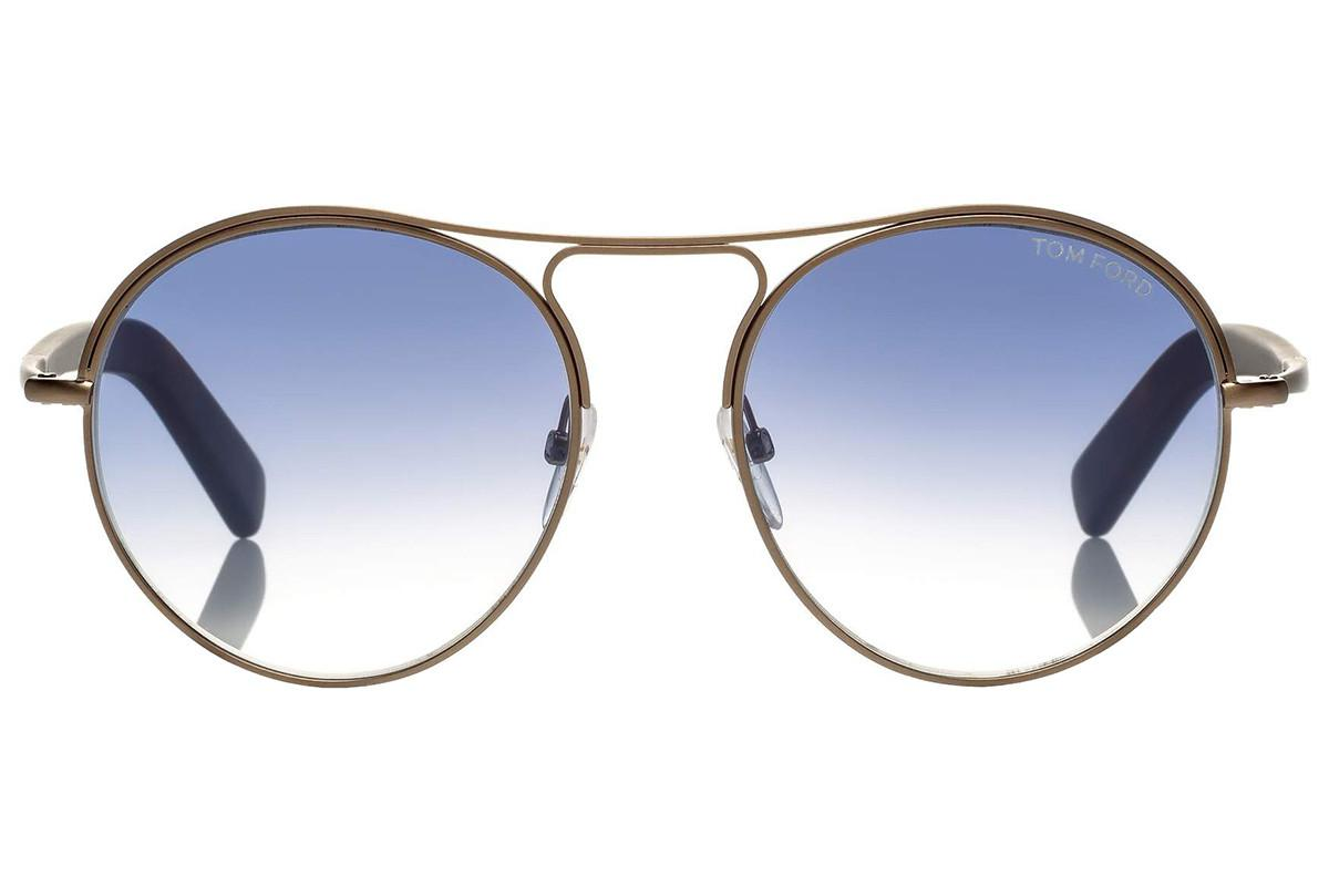 396f2e4add Lyst - Tom Ford Jessie Round Bronze And Tortoiseshell Frames With ...