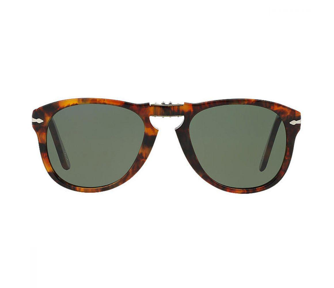 10f9402fbb Lyst - Persol Icons Po0714 108 58 Caffe With Crystal Green Lenses ...