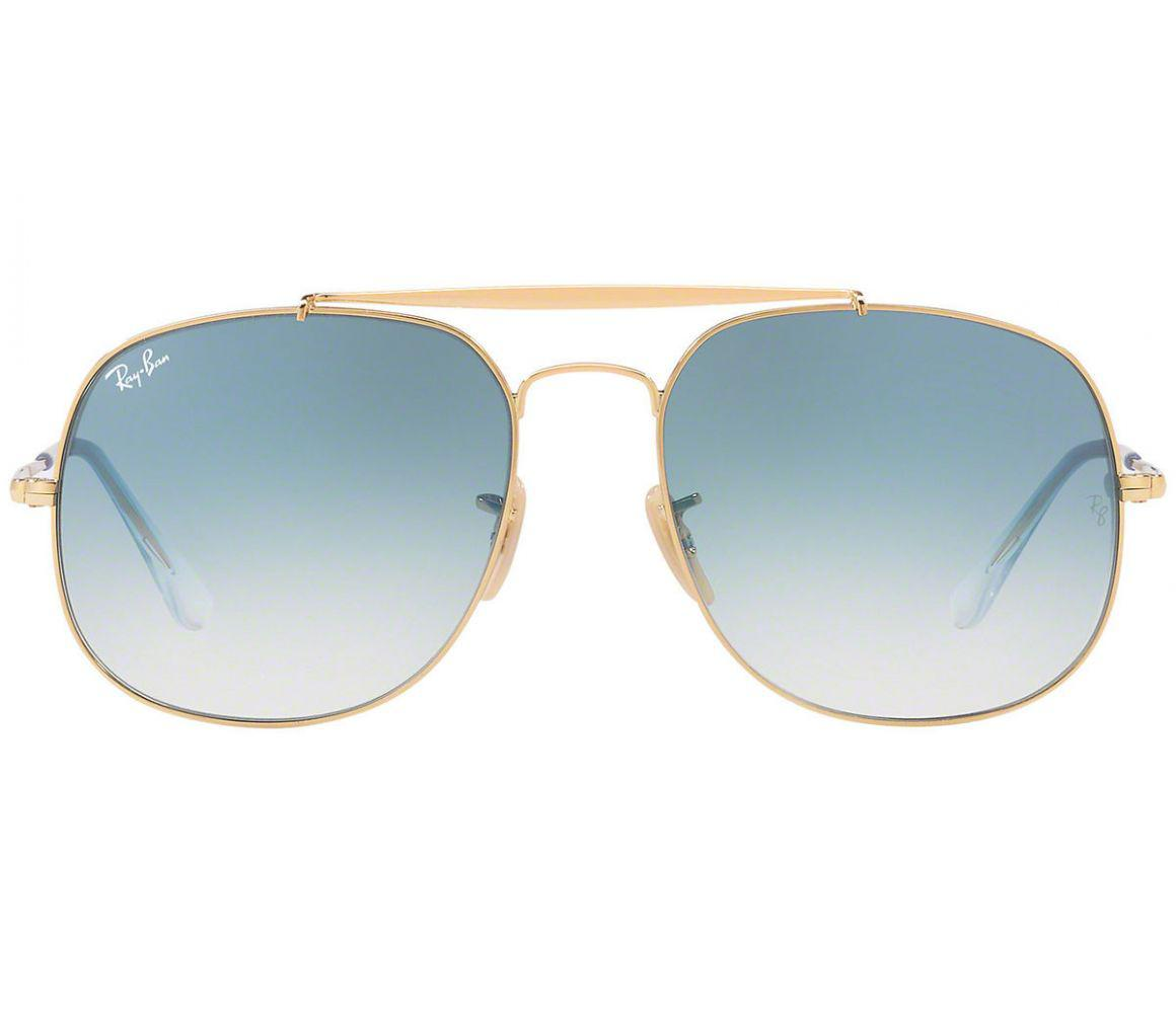9b72ff96cfd93 Ray-Ban - Metallic General Rb3561-001 Gold Frames With Sky Blue Lenses  Sunglasses. View fullscreen
