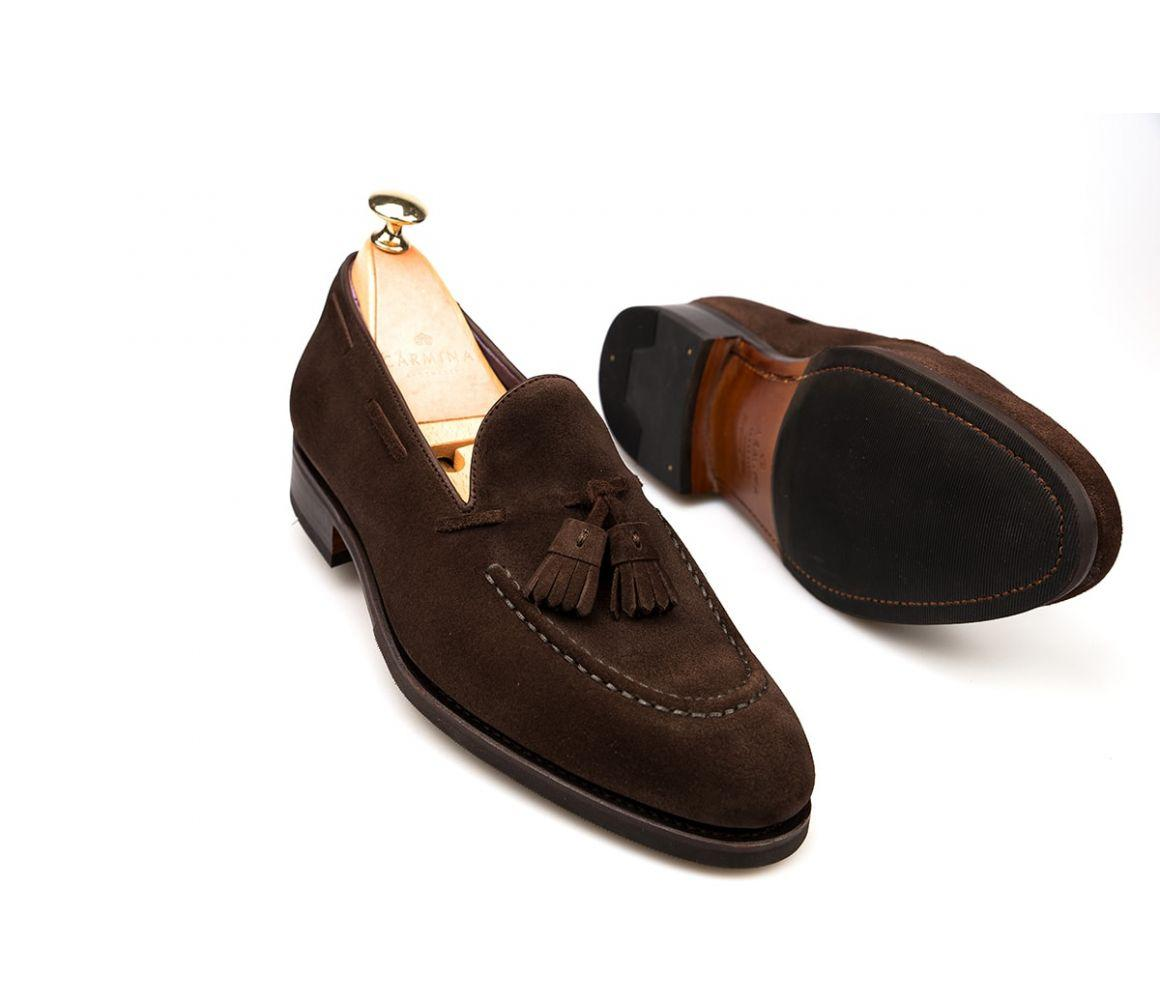 1c41cdc3cba Carmina - Brown Suede Tassel Loafers for Men - Lyst. View fullscreen