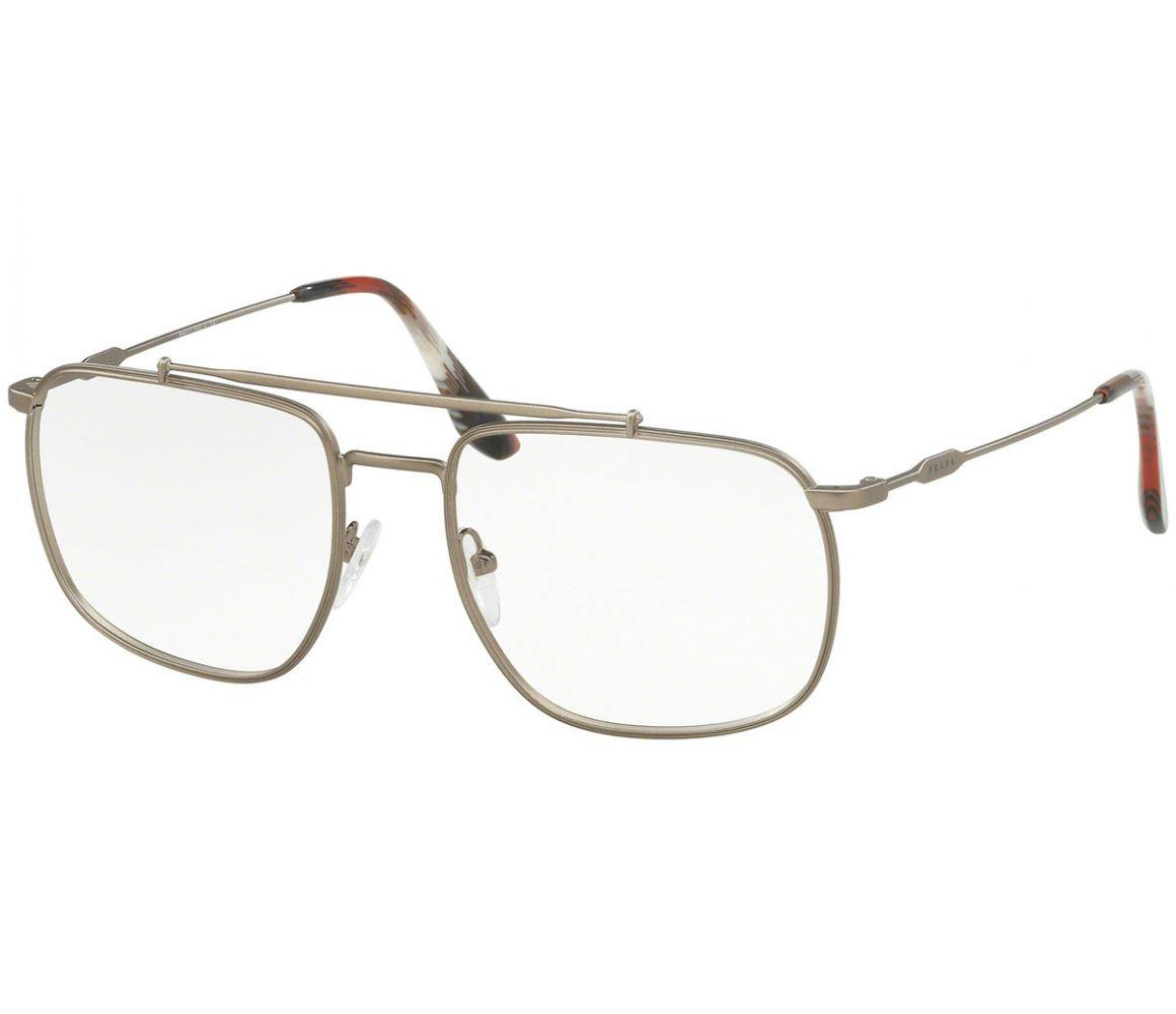 32e75ffe6d66 Lyst - Prada Bronze Metal Frames With Clear Lenses Eyewear Pr56uv ...